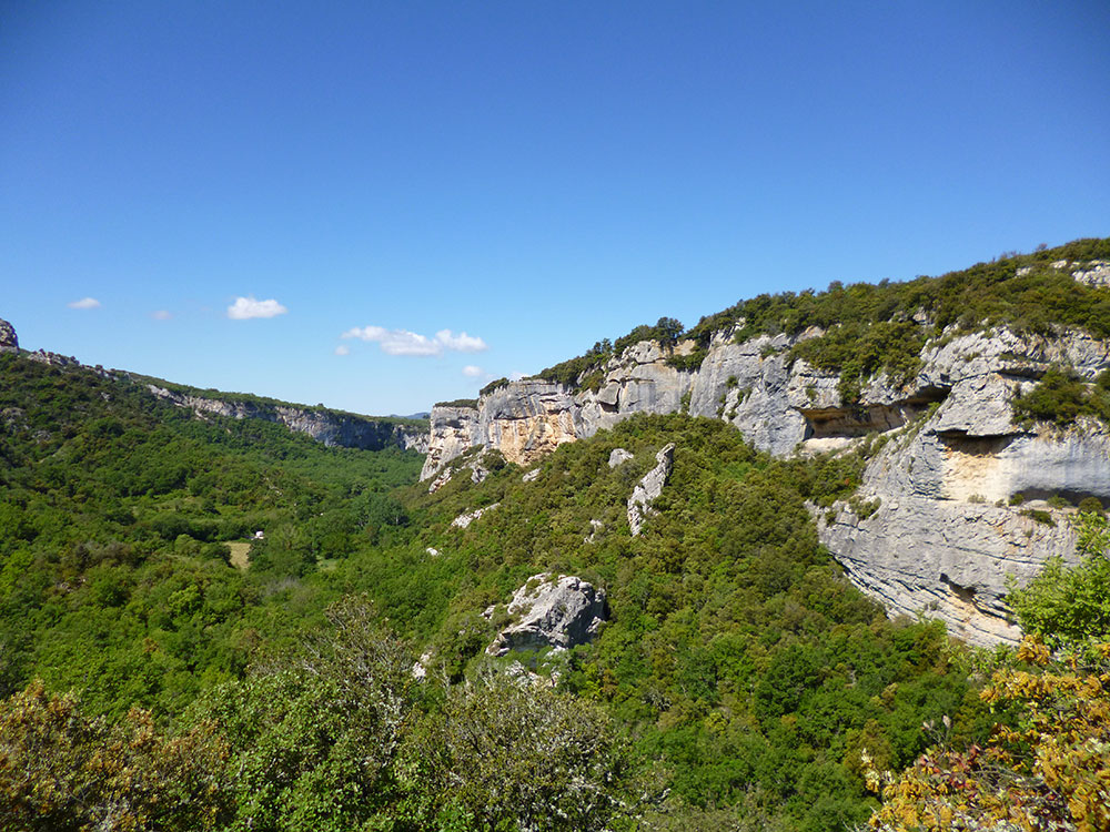 La falaise de Buoux